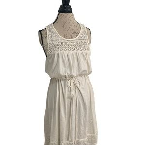 BOGO Free H&M cream coloured dress with lace NWOT